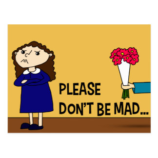 Please Don't Be Mad Postcard