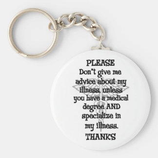 Please Don't Give Advice Basic Round Button Key Ring