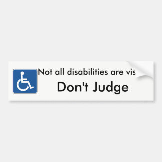 Please Don't Judge Handicap Bumper Sticker