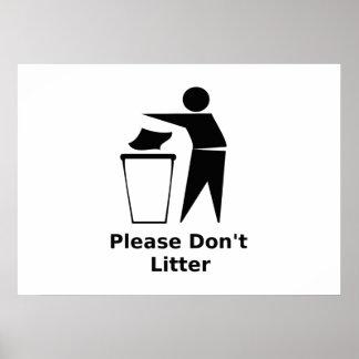 Please Don't Litter Poster