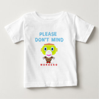 Please Don't Mind-Cute Monkey-Morocko Baby T-Shirt