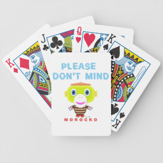Please Don't Mind-Cute Monkey-Morocko Bicycle Playing Cards