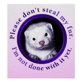 Please don't steal my fur, I'm not done with it Poster