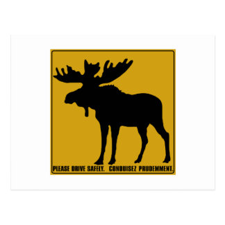 Please Drive Safely,  Traffic Sign, Canada Postcards