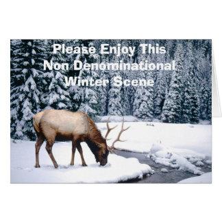 Please Enjoy This Non Denominational Winter Scene Card