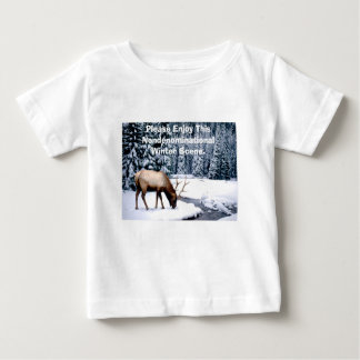 Please Enjoy This Nondenominational Winter Scene. Baby T-Shirt