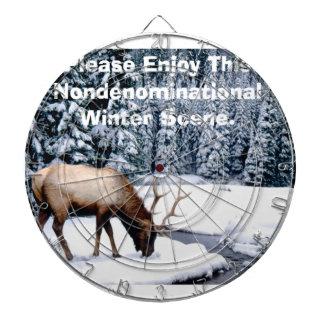 Please Enjoy This Nondenominational Winter Scene. Dartboard