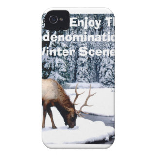 Please Enjoy This Nondenominational Winter Scene. iPhone 4 Cover