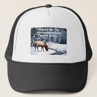Please Enjoy This Nondenominational Winter Scene. Trucker Hat