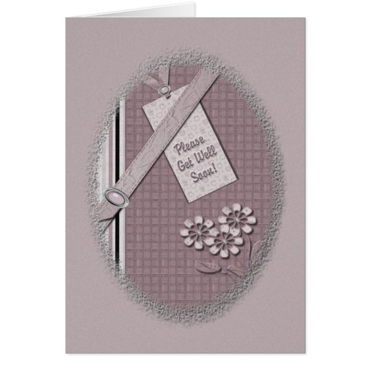 Please Get Well Soon Greeting Card