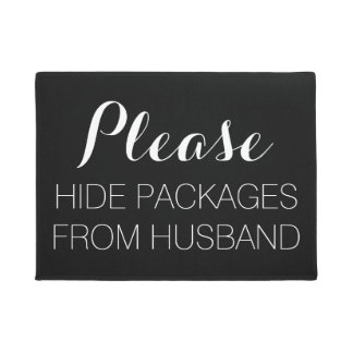 Please Hide Packages From Husband Door Mat