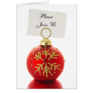 Please Join Us holiday invitation cards