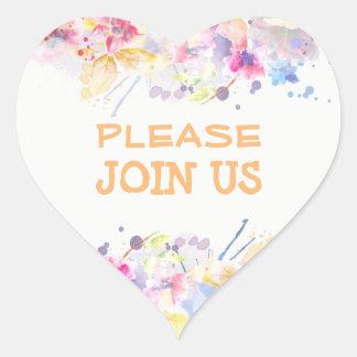 Please Join US Sticker Watercolor Design