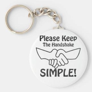 Please Keep The Handshake Simple Key Chain