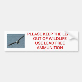 PLEASE KEEP THE LEAD OUT BUMPER STICKER