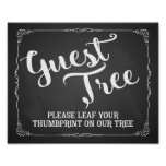 please leaf your thumbprint on our tree guest book poster