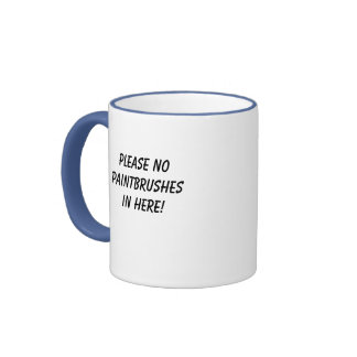 Please no paintbrushes in here! coffee mug