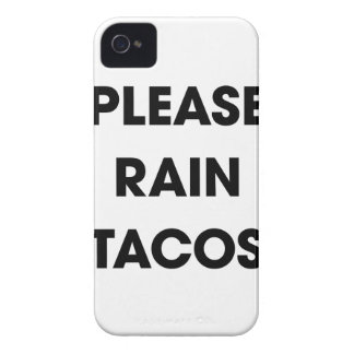 Please Rain Tacos 2 iPhone 4 Covers