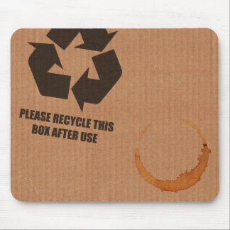 """""""please recycle box"""" cardboard mouse mat"""