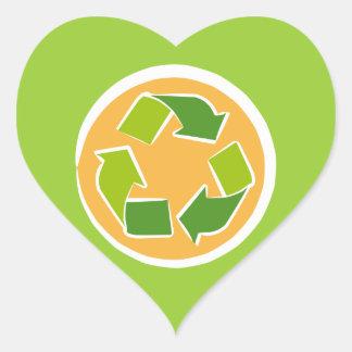 Please Recycle heart sticker
