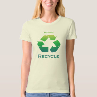 Please Recycle Sign T-Shirt