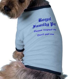 Please respect me, Don't pet me, Royal Family Pet Dog Clothes