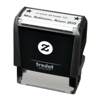 Please return to - book or property return self-inking stamp