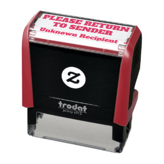"""PLEASE RETURN TO SENDER"" ""Unknown Recipient"" Self-inking Stamp"