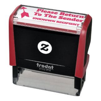 """Please Return To The Sender"" ""UNKNOWN RECIPIENT"" Self-inking Stamp"