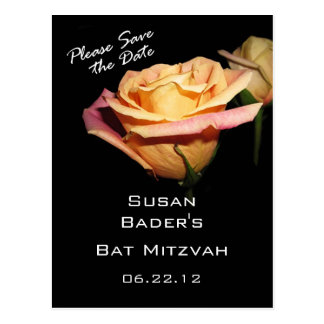 Please Save the Date Bat Mitzvah Postcard
