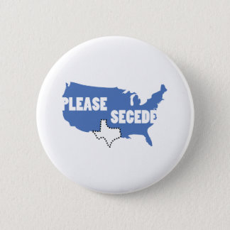 Please Secede 6 Cm Round Badge