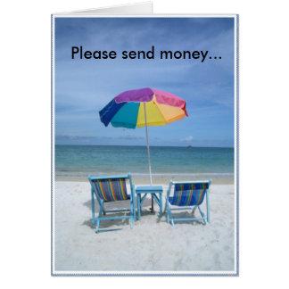 Please send money... card