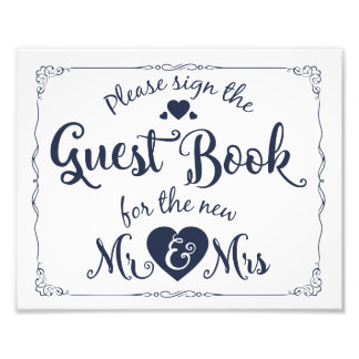 Please sign our guest book sign navy