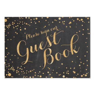 Please sign our guest book Wedding Sign, Card