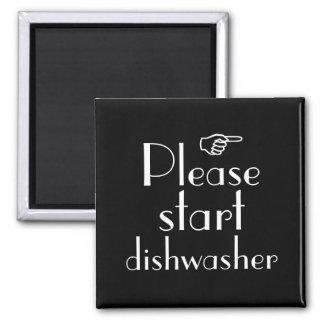 Please Start Dishwasher magnet template