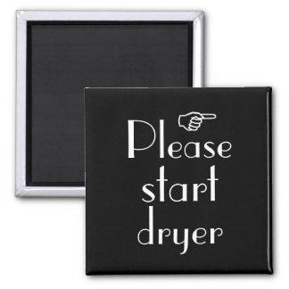 Please Start Dryer magnet template