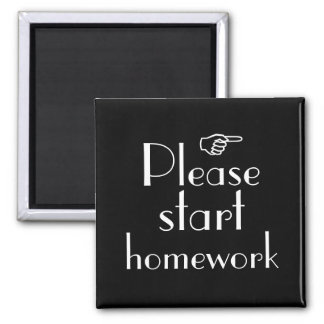 Please Start Homework magnet template