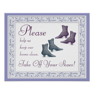 Please Take Off Your Shoes Poster