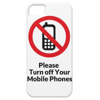 Please Turn Off Your Mobile Phones iPhone Case Case For The iPhone 5