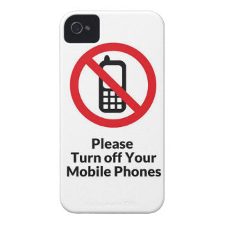 Please Turn Off Your Mobile Phones iPhone Case iPhone 4 Case-Mate Cases