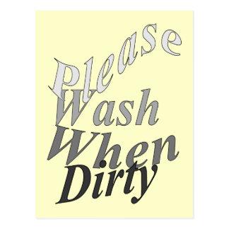 Please Wash When Dirty Postcard