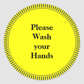 Please Wash Your Hands Classic Round Sticker