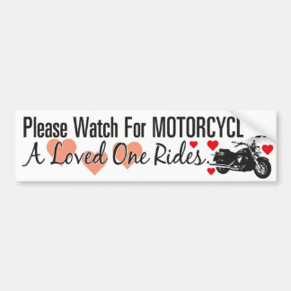 Please Watch For Motorcycles - Cruiser Car Bumper Sticker