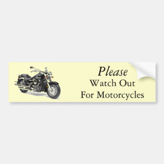 Please Watch Out For Motorcycles Bumper Sticker