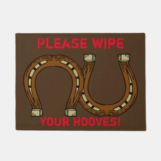 """""""Please wipe your hooves"""" Doormat"""