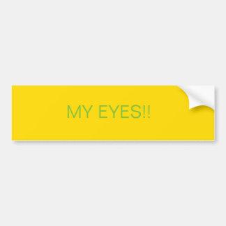 Pleasing on the eyes bumper sticker