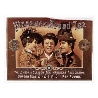 Pleasure Brand Tea Vintage Art Postcard