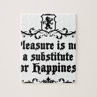 Pleasure Is Not Asubstitute For Happiness Medieval Jigsaw Puzzle