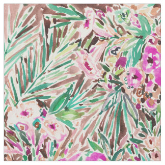 PLEASURE POINT Tropical Watercolor Floral Fabric