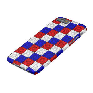 Pleated Corners-Red-White-Blue-iphone 6/6s Case